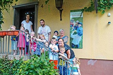 Für die Kindervilla wurde eine alte Stadtvilla liebevoll saniert.