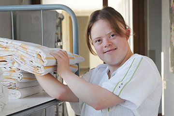 Diese junge Frau mit Down-Syndrom besuchte die Fördergruppe des Anna-Haag-Hauses
