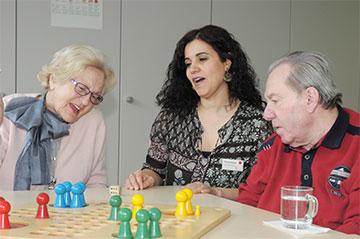 Alltagsbetreuung im Seniorenzentrum des Anna Haag Mehrgenerationenhauses