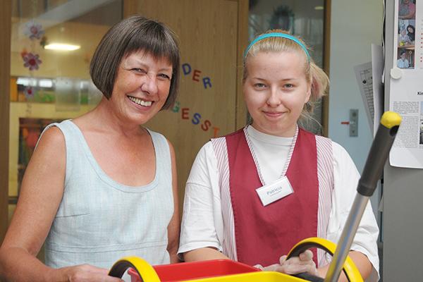 Hannelore Rau ist Vorsitzende des Aufsichtsrates des Anna Haag Mehrgenerationenhauses.